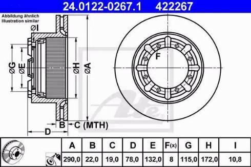 ATE 24.0122-0267.1 - Bremžu diski interparts.lv