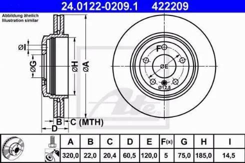 ATE 24.0122-0209.1 - Bremžu diski interparts.lv