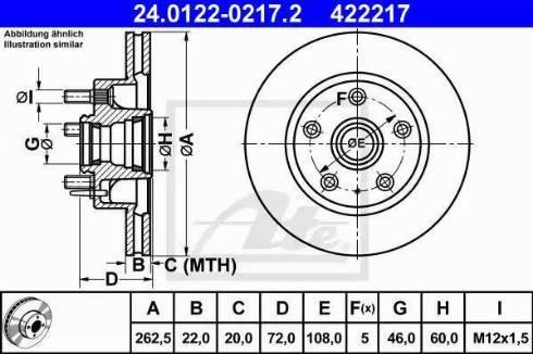 ATE 24.0122-0217.2 - Bremžu diski interparts.lv