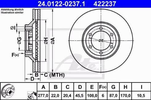 ATE 24.0122-0237.1 - Bremžu diski interparts.lv
