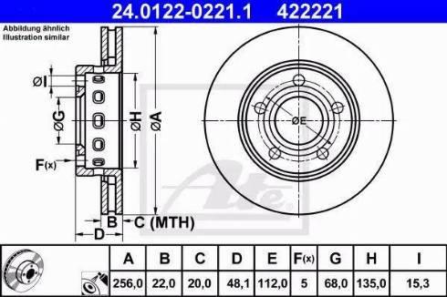 ATE 24.0122-0221.1 - Bremžu diski interparts.lv