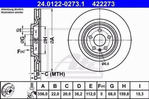ATE 24.0122-0273.1 - Bremžu diski interparts.lv