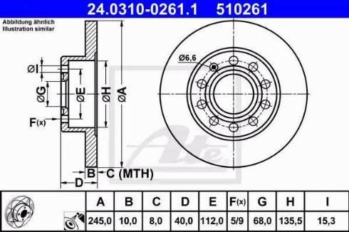ATE 24.0310-0261.1 - Bremžu diski interparts.lv