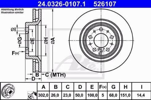ATE 24.0326-0107.1 - Bremžu diski interparts.lv