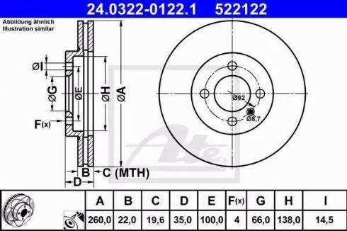 ATE 24.0322-0122.1 - Bremžu diski interparts.lv