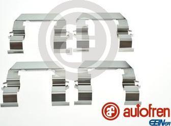 AUTOFREN SEINSA D42909A - Piederumu komplekts, Disku bremžu uzlikas interparts.lv