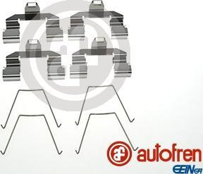 AUTOFREN SEINSA D42800A - Piederumu komplekts, Disku bremžu uzlikas interparts.lv