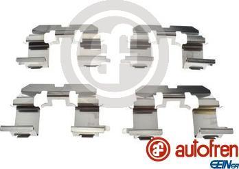AUTOFREN SEINSA D42872A - Piederumu komplekts, Disku bremžu uzlikas interparts.lv