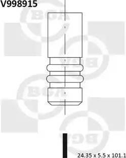 BGA V998915 - Izplūdes vārsts interparts.lv