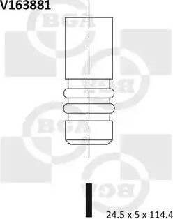 BGA V163881 - Izplūdes vārsts interparts.lv