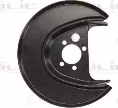 BLIC 6508-03-9501877P - Dubļu sargs, Bremžu disks interparts.lv