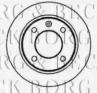 Borg & Beck BBD4975 - Bremžu diski interparts.lv