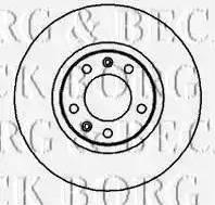 Borg & Beck BBD4977 - Bremžu diski interparts.lv