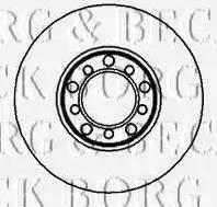 Borg & Beck BBD4831 - Bremžu diski interparts.lv