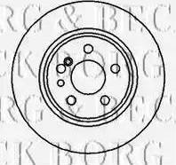 Borg & Beck BBD5004 - Bremžu diski interparts.lv