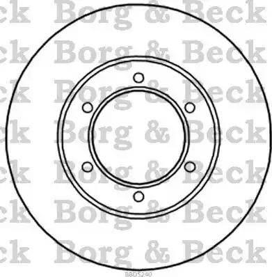 Borg & Beck BBD5240 - Bremžu diski interparts.lv