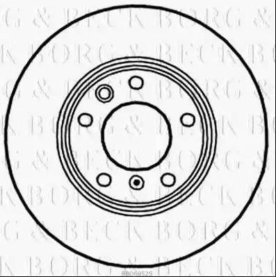 Borg & Beck BBD6052S - Bremžu diski interparts.lv