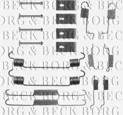 Borg & Beck BBK6054 - Piederumu komplekts, Stāvbremzes mehānisma bremžu loks interparts.lv