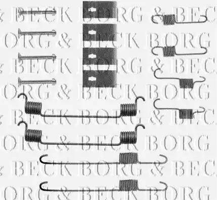 Borg & Beck BBK6050 - Piederumu komplekts, Stāvbremzes mehānisma bremžu loks interparts.lv