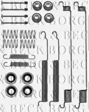 Borg & Beck BBK6195 - Piederumu komplekts, Stāvbremzes mehānisma bremžu loks interparts.lv