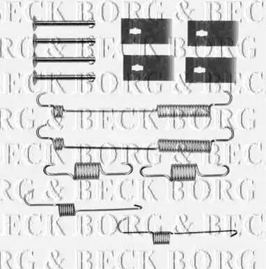 Borg & Beck BBK6161 - Piederumu komplekts, Stāvbremzes mehānisma bremžu loks interparts.lv