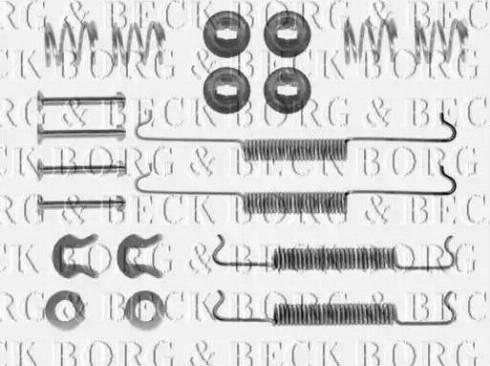 Borg & Beck BBK6120 - Piederumu komplekts, Stāvbremzes mehānisma bremžu loks interparts.lv