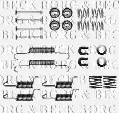 Borg & Beck BBK6305 - Piederumu komplekts, Stāvbremzes mehānisma bremžu loks interparts.lv