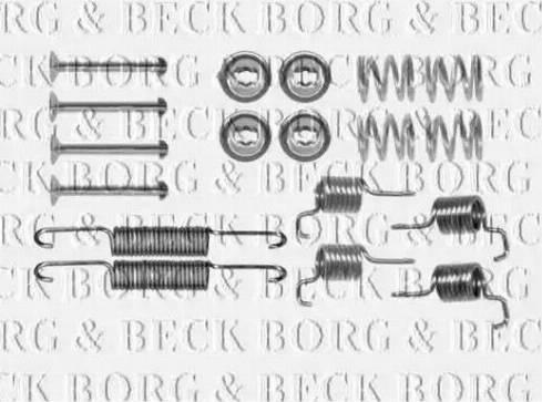 Borg & Beck BBK6306 - Piederumu komplekts, Stāvbremzes mehānisma bremžu loks interparts.lv