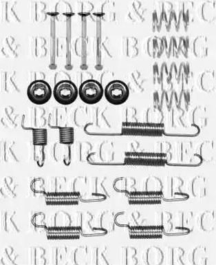 Borg & Beck BBK6313 - Piederumu komplekts, Stāvbremzes mehānisma bremžu loks interparts.lv