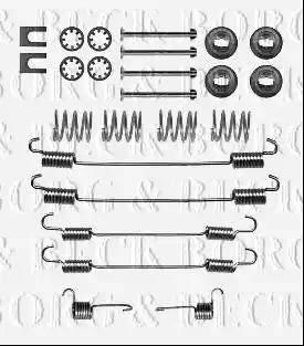 Borg & Beck BBK6327 - Piederumu komplekts, Stāvbremzes mehānisma bremžu loks interparts.lv