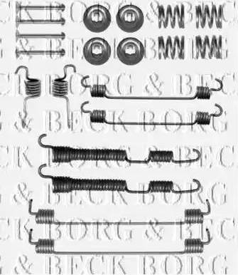 Borg & Beck BBK6255 - Piederumu komplekts, Stāvbremzes mehānisma bremžu loks interparts.lv