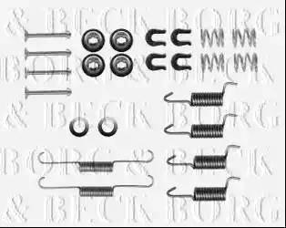 Borg & Beck BBK6265 - Piederumu komplekts, Stāvbremzes mehānisma bremžu loks interparts.lv