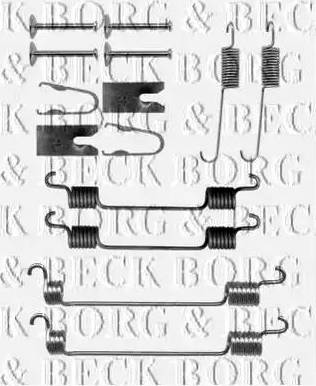 Borg & Beck BBK6262 - Piederumu komplekts, Stāvbremzes mehānisma bremžu loks interparts.lv