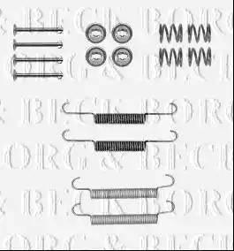 Borg & Beck BBK6206 - Piederumu komplekts, Stāvbremzes mehānisma bremžu loks interparts.lv