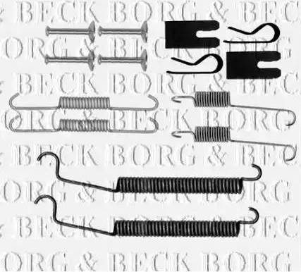 Borg & Beck BBK6218 - Piederumu komplekts, Stāvbremzes mehānisma bremžu loks interparts.lv
