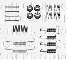 Borg & Beck BBK6233 - Piederumu komplekts, Stāvbremzes mehānisma bremžu loks interparts.lv