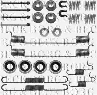 Borg & Beck BBK6222 - Piederumu komplekts, Stāvbremzes mehānisma bremžu loks interparts.lv