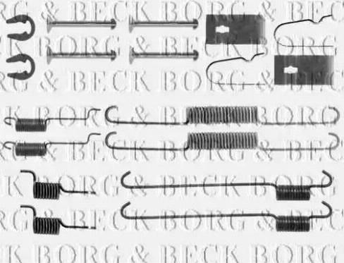 Borg & Beck BBK6274 - Piederumu komplekts, Stāvbremzes mehānisma bremžu loks interparts.lv