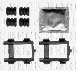 Borg & Beck BBK1495 - Piederumu komplekts, Disku bremžu uzlikas interparts.lv