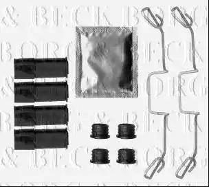 Borg & Beck BBK1496 - Piederumu komplekts, Disku bremžu uzlikas interparts.lv