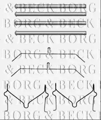 Borg & Beck BBK1491 - Piederumu komplekts, Disku bremžu uzlikas interparts.lv