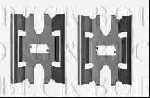 Borg & Beck BBK1406 - Piederumu komplekts, Disku bremžu uzlikas interparts.lv