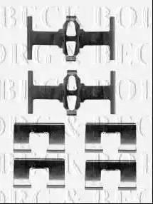 Borg & Beck BBK1400 - Piederumu komplekts, Disku bremžu uzlikas interparts.lv