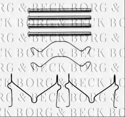 Borg & Beck BBK1486 - Piederumu komplekts, Disku bremžu uzlikas interparts.lv