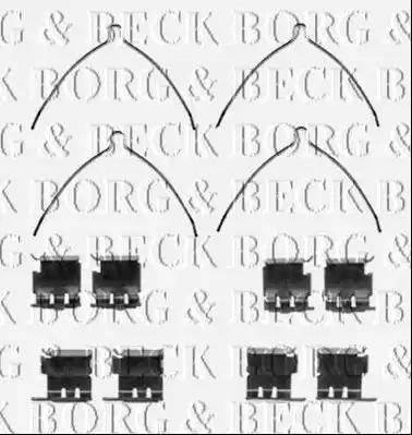 Borg & Beck BBK1425 - Piederumu komplekts, Disku bremžu uzlikas interparts.lv