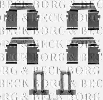 Borg & Beck BBK1476 - Piederumu komplekts, Disku bremžu uzlikas interparts.lv