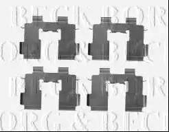 Borg & Beck BBK1477 - Piederumu komplekts, Disku bremžu uzlikas interparts.lv