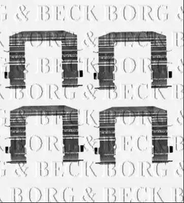 Borg & Beck BBK1540 - Piederumu komplekts, Disku bremžu uzlikas interparts.lv