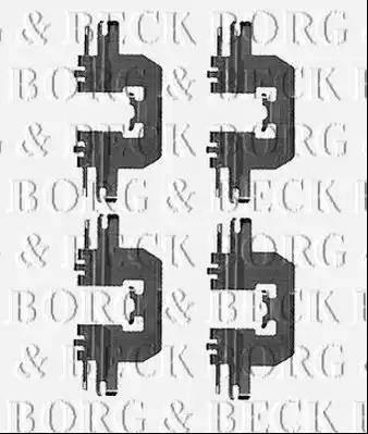 Borg & Beck BBK1541 - Piederumu komplekts, Disku bremžu uzlikas interparts.lv