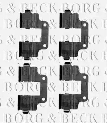 Borg & Beck BBK1543 - Piederumu komplekts, Disku bremžu uzlikas interparts.lv